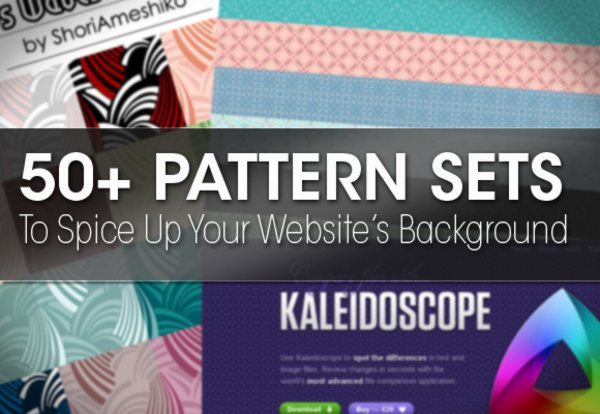50plus Pattern Sets To Spice Up Your Website's Background