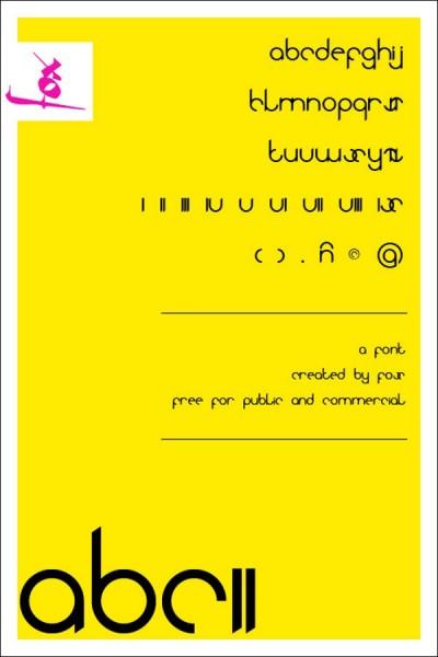 ABC - Font Typeface Version 2 free font