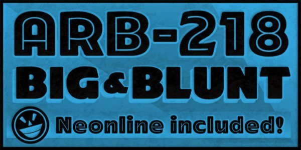 ARB-218-Big-Blunt-MAR-50-free-vintage-font