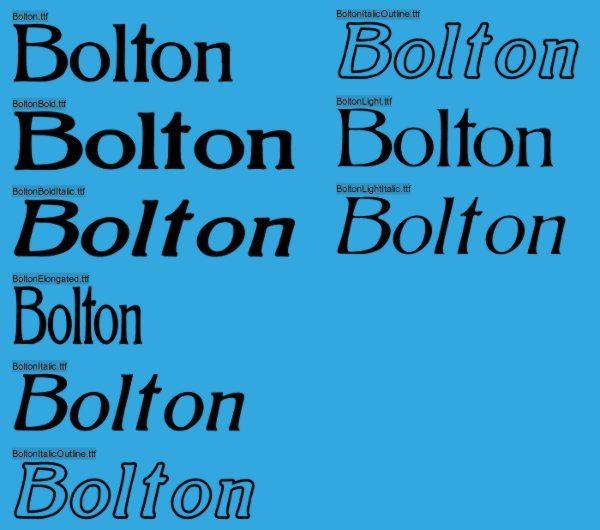 Bolton-free-vintage-font