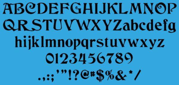 Columbus-free-vintage-font