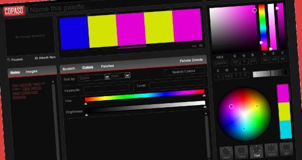 Copaso - herramienta web para crear paletas de colores