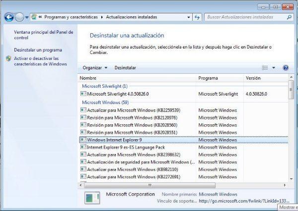 Desinstalar-Windows-Internet-Explorer-9 Tutorial - Cómo instalar y desinstalar Internet Explorer 9 (IE9)