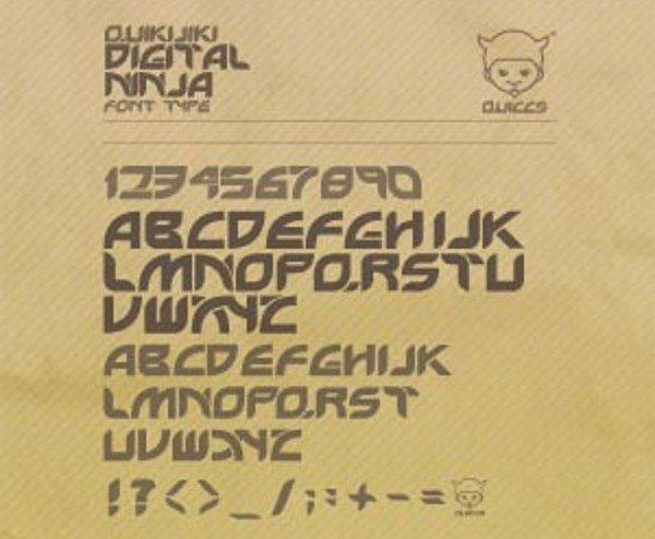 Digital-free-font