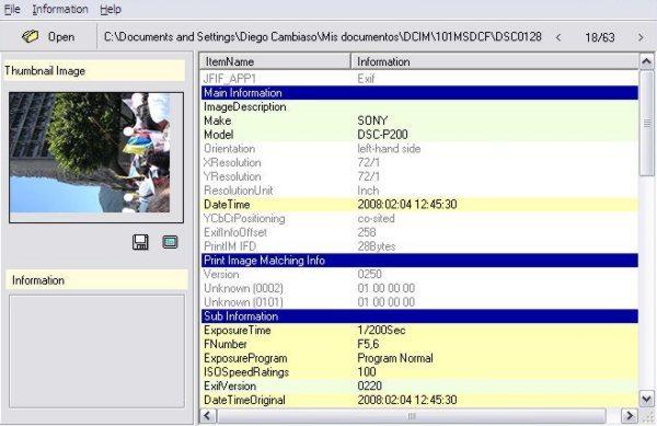 ExifReader Interfaz