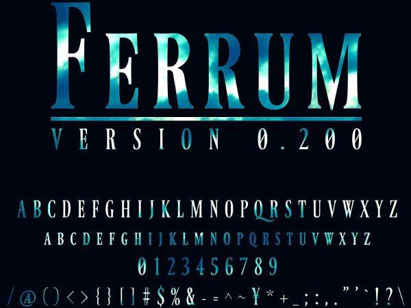 Ferrum-free-font