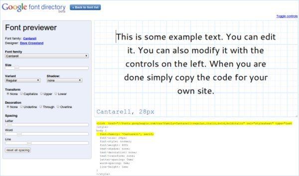 Google font directory - Herramienta web para trabajar con tipografías