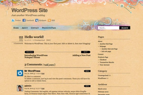 Koi-free-WordPress-theme