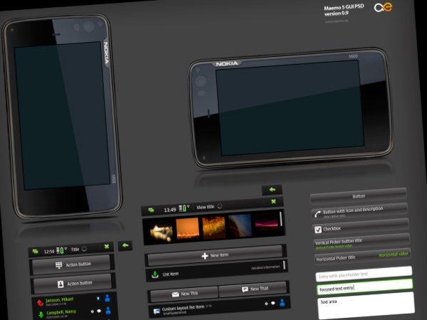 Maemo5-template-PSD Maemo 5 - Template en formatos PSD de Photoshop y XCF de GIMP