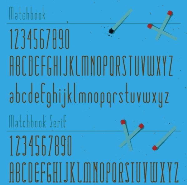 Matchbook-free-vintage-font