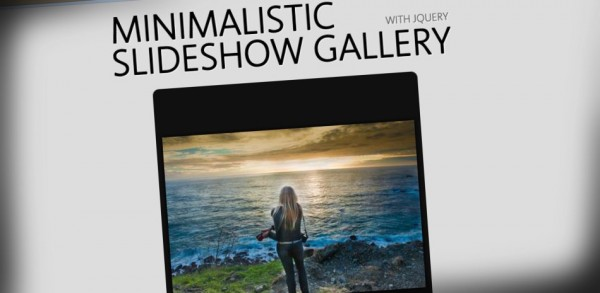 Minimalistic Slideshow Gallery con jQuery