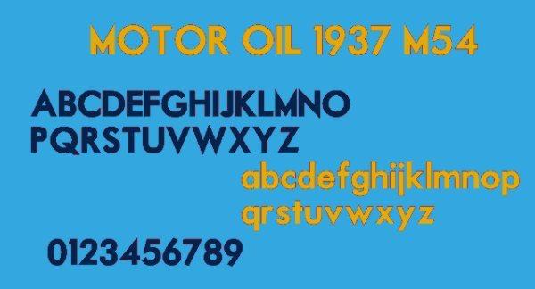Motor-Oil-free-vintage-font