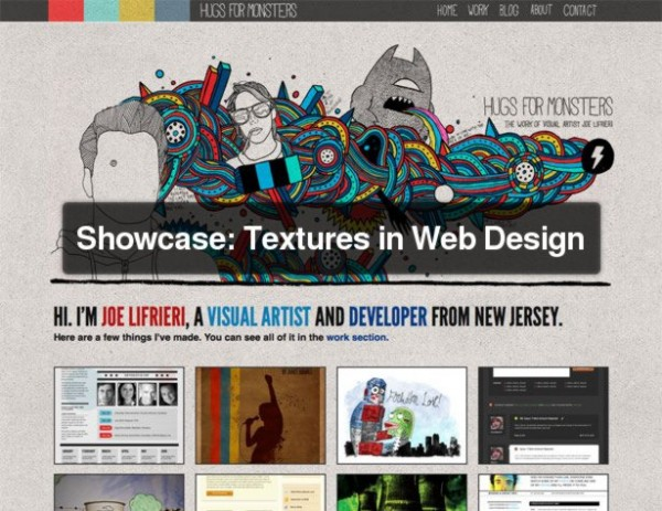 Showcase: Textures in Web Design