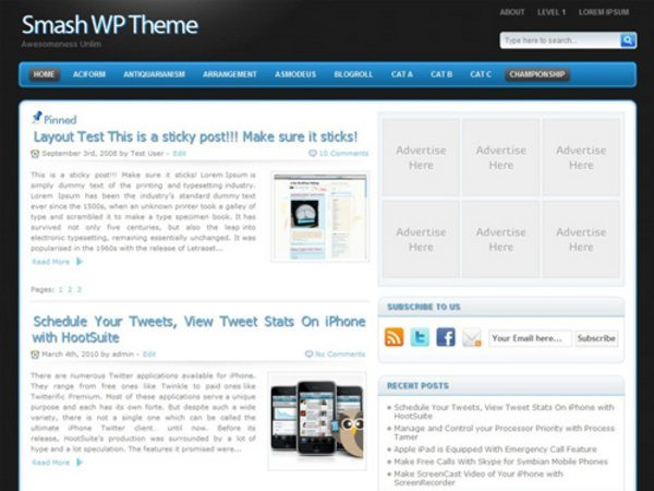 Smash-free-WordPress-theme