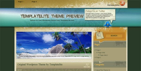 Texture-art-free-WordPress-theme