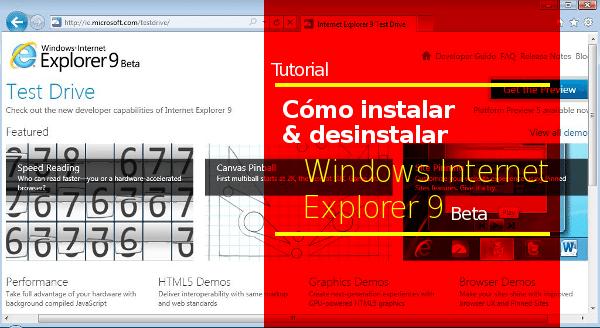 Tutorial-Windows-Internet-Explorer-9 Tutorial - Cómo instalar y desinstalar Internet Explorer 9 (IE9)