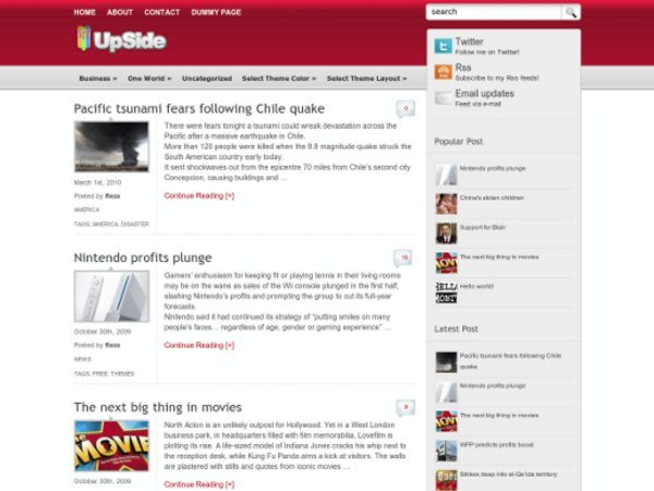 UpSide-free-WordPress-theme