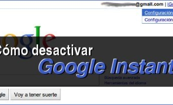 Cómo desactivar Google Instant