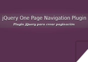 jQuery One Page Navigation Plugin
