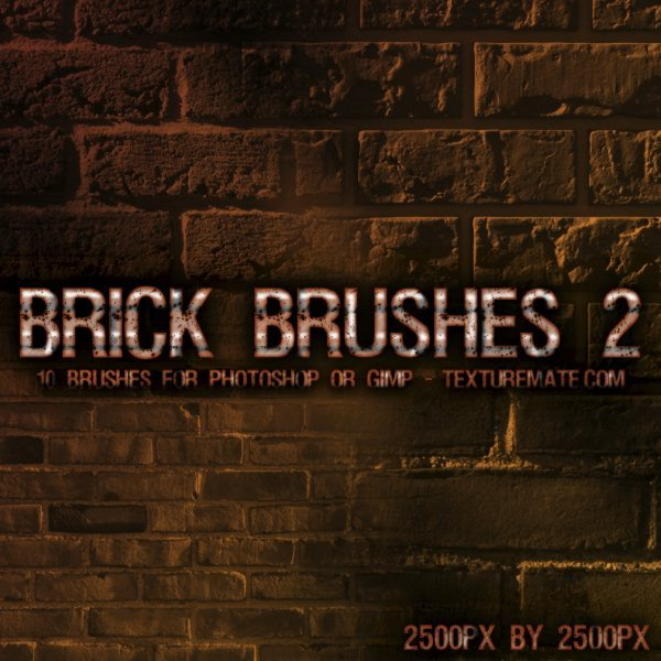 Brick Brushes 2 -pinceles para Photoshop y GIMP
