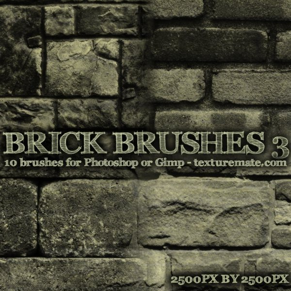 Brick Brushes 3 - pinceles para Photoshop