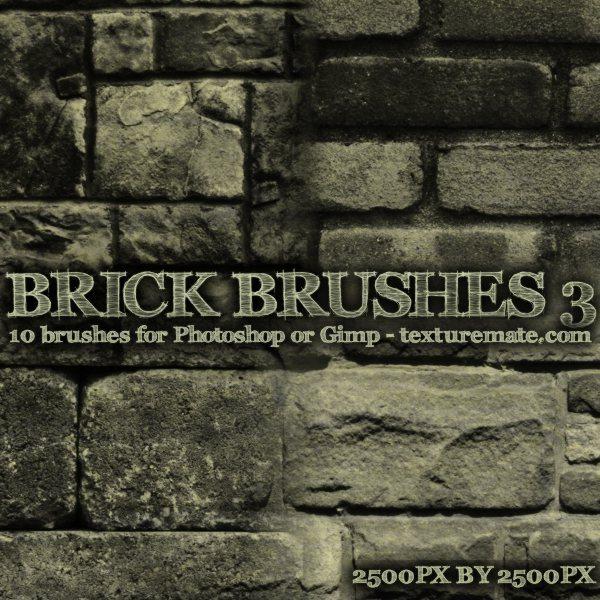 Brick-Brushes-3-pinceles-para-Photoshop Hermosa recopilación de brushes y texturas gratis para Photoshop de paredes de ladrillos (bricks)