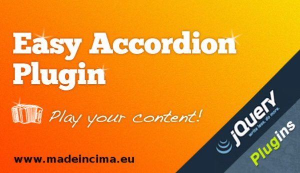 Easy Accordion - jQuery Plugin