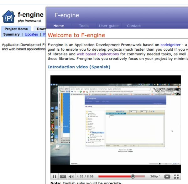 F-engine - Framework PHP