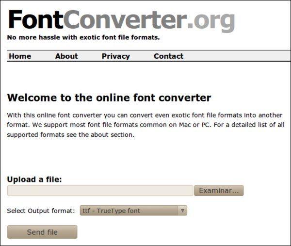 FontConverter - servicio web para convertir tipografias
