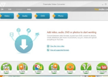 Freemake Video Converter programa para Windows para hacer videos