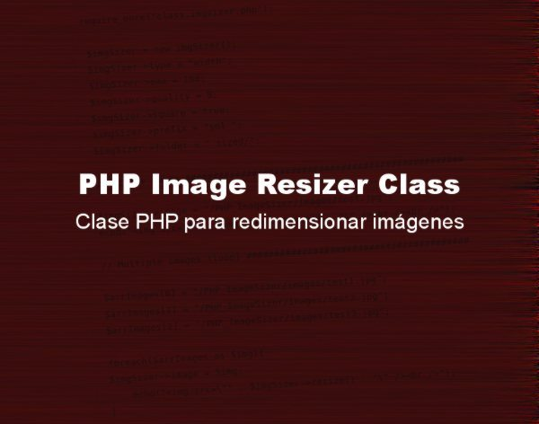 PHP Image Resizer Class