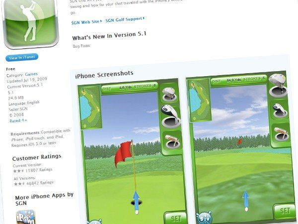 SGN Golf-free-iPhone-game