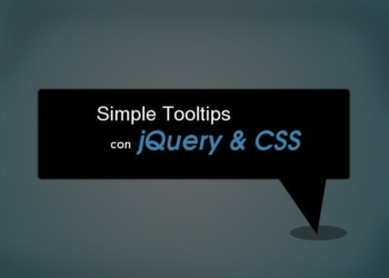 Simple Tooltips con jQuery y CSS