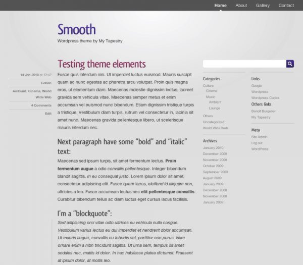 Smooth-free-WordPress-theme