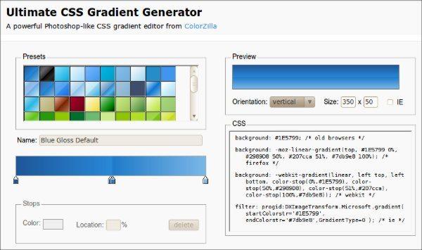 Ultimate-CSS-Gradient-Generator-servicio-web 14 Recursos para trabajar con CSS3