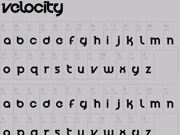Velocity-free-font