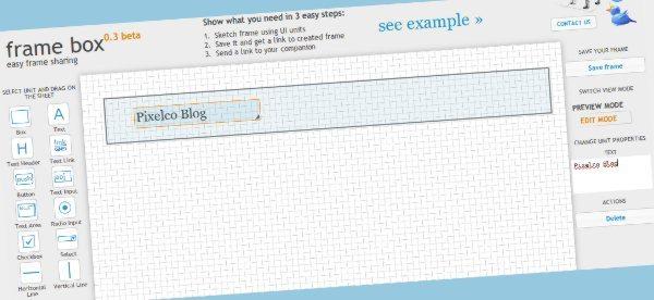 frame box - editor online