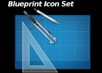 Blueprint icon set - colección de iconos gratis