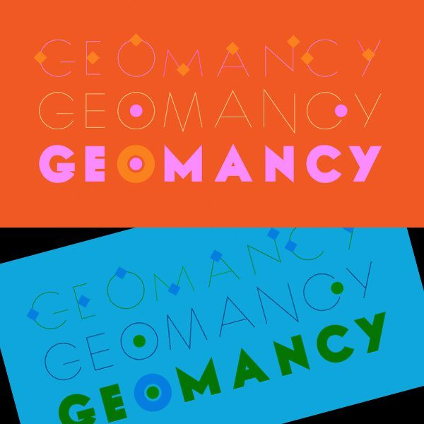 Geomancy free modern typeface for Photoshop