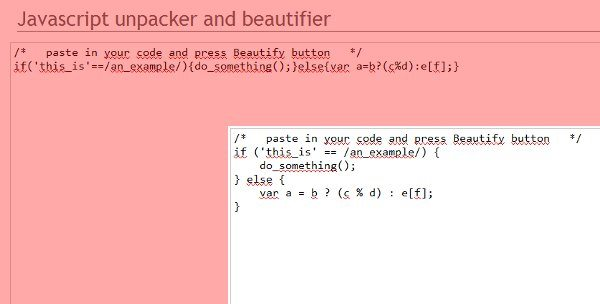 Javascript-unpacker-and-beautifier - Servicio web