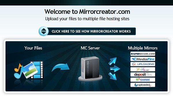 Mirrorcreator - servicio web de alojamiento de achivos