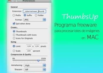 ThumbsUp - programa gratis para Mac para procesar lotes de imágenes