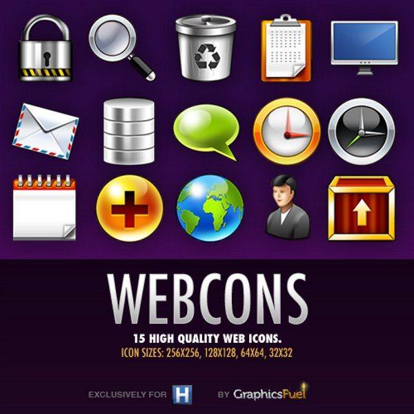 Webcons - colección de iconos gratis