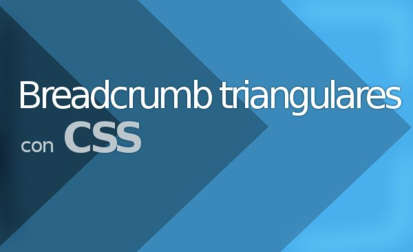 Tutorial - Breadcrumb triangulares