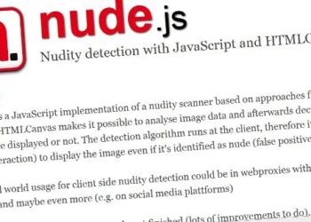 Nude.js - biblioteca Javascript para detectar imagenes con nudismo