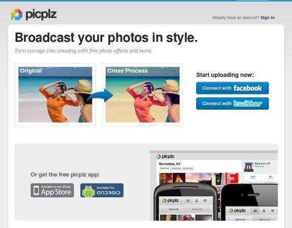 Picplz - Interfaz