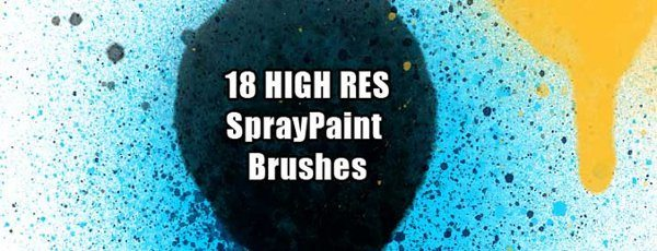 18 high res spray paint brushes for Photoshop