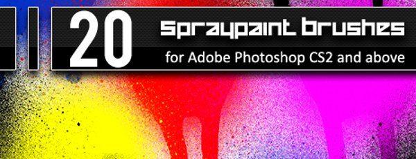 20 Spraypaint brushes
