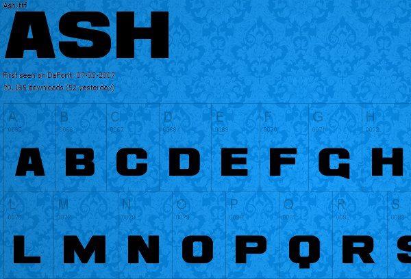 ASH fuente gratis para descargar