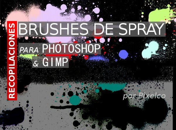Brushes de Spray para Photoshop y GIMP